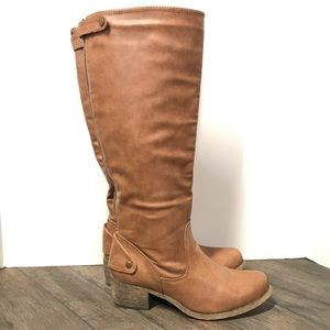 Rampage Sarabeth cognac boot